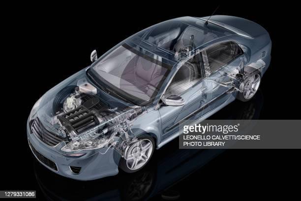 inside of a car, illustration - headwear stock illustrations