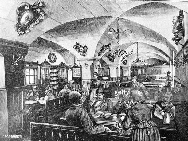 stockillustraties, clipart, cartoons en iconen met in het hofbräuhaus van münchen - beieren