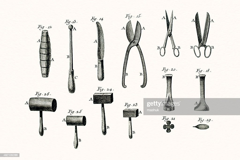 Instruments 18 Century Illustration stock illustration