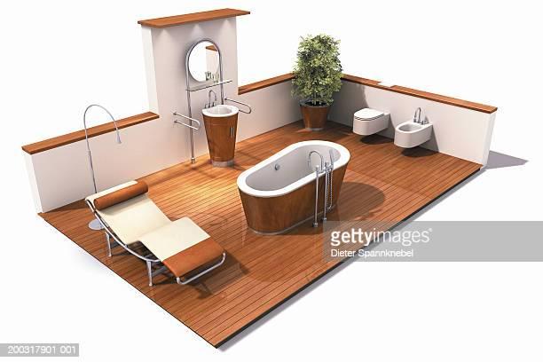 Interior design of bathroom (Digital)
