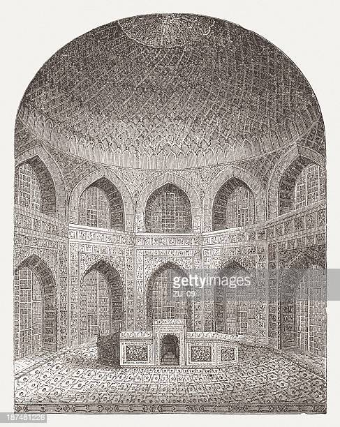 Interior of Taj Mahal (India), built 1632-1644, published in 1876