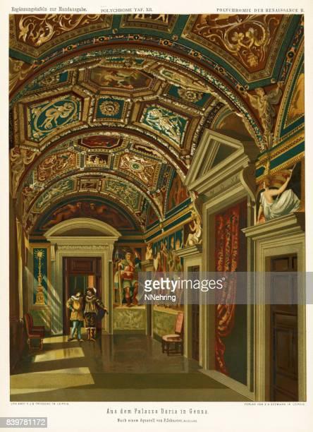 interior view of Villa del Principe (Palazzo Andrea Doria), Genoa, Italy