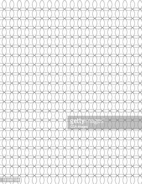 interlocked circles - pattern stock illustrations