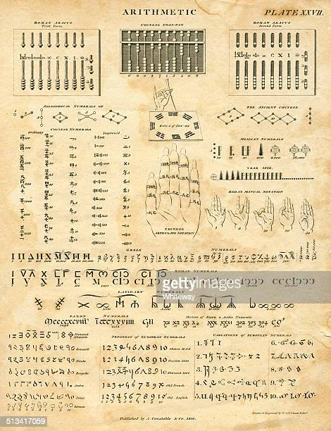 International arithmetic in 1816 19th century
