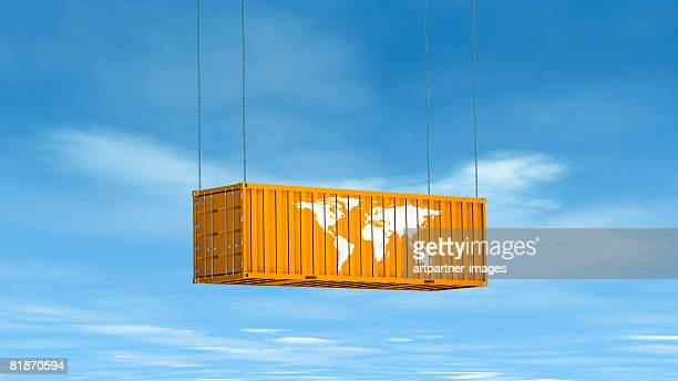 international container for cargo  - transportation stock illustrations