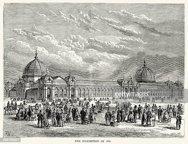 international exhibition of 1862 - great exhibition stock illustrations, clip art, cartoons, & icons
