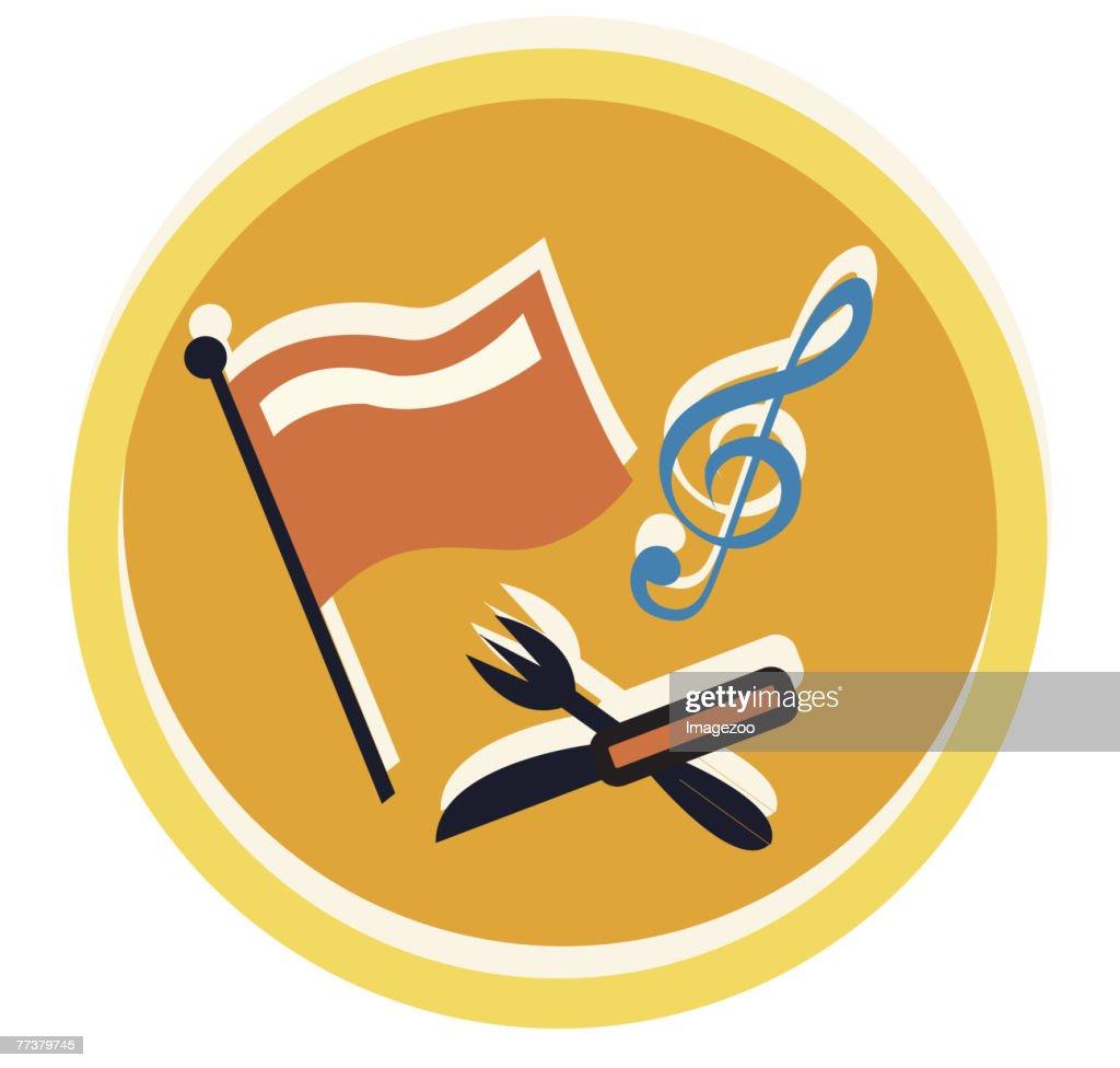 international music and food : Illustration