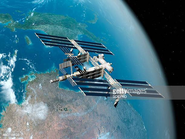 international space station, artwork - 国際宇宙ステーション点のイラスト素材/クリップアート素材/マンガ素材/アイコン素材