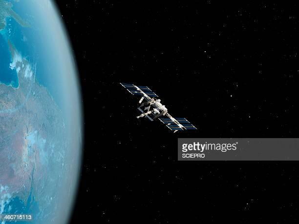 illustrations, cliparts, dessins animés et icônes de international space station, artwork - gafam