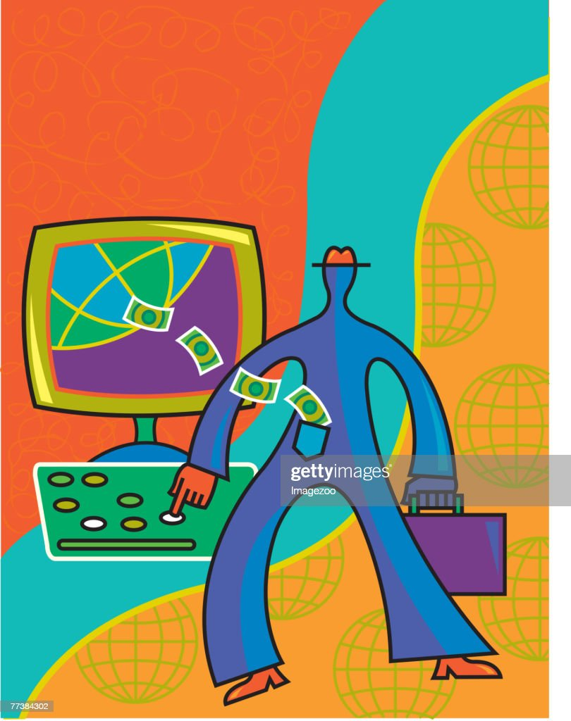 internet banking : stock illustration
