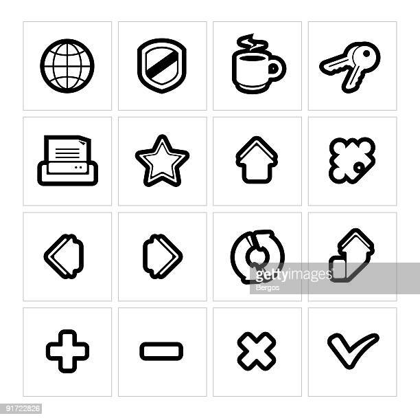 Internet browser icons | Thick outline series