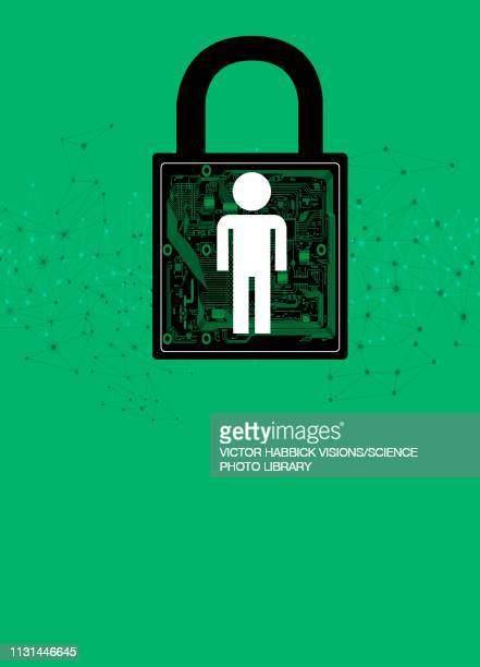 internet security, conceptual illustration - individuality stock illustrations