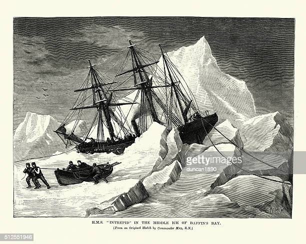 HMS Intrepid in the Middle Ice of Baffin's Bay