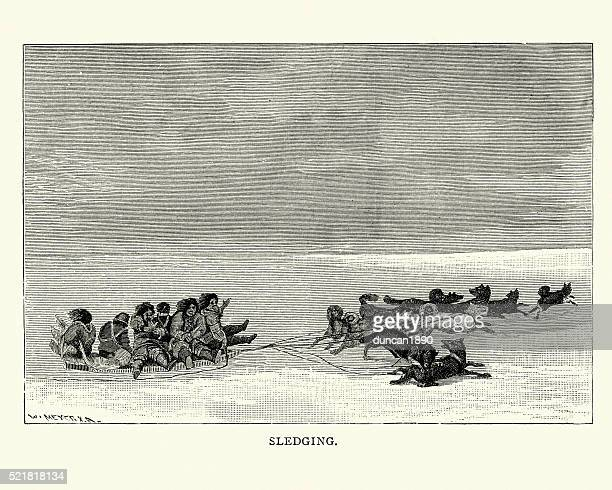 Inuit sledging, 19th Century