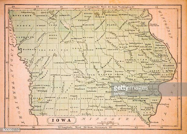 Iowa 1852 Map