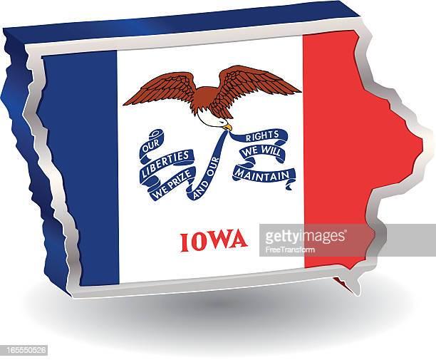 Iowa Flag 3D