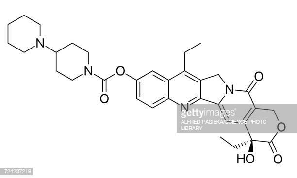 irinotecan cancer drug, formulae - metastatic tumour stock illustrations