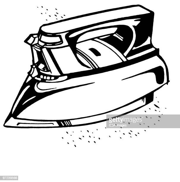 iron - iron appliance stock illustrations, clip art, cartoons, & icons