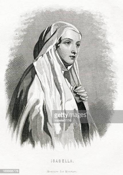isabella from shakespeare's play - william shakespeare stock illustrations, clip art, cartoons, & icons