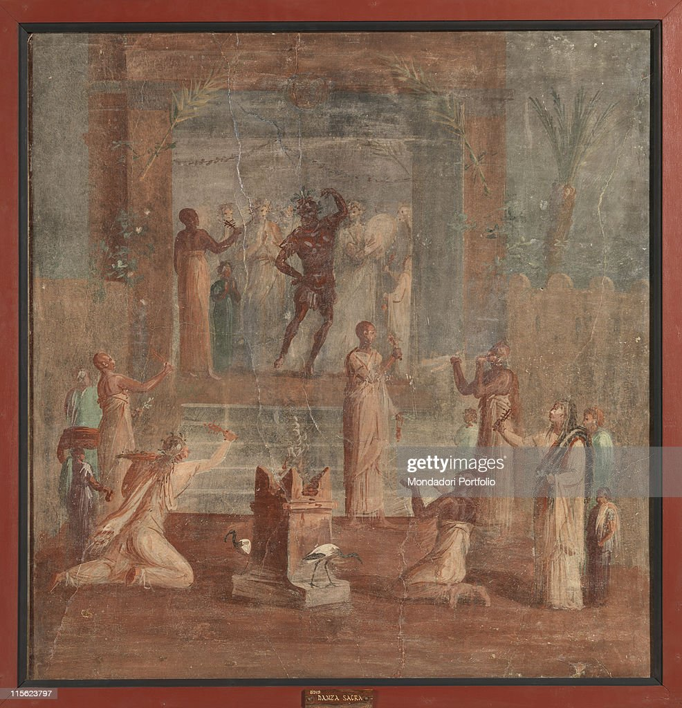 Isiac Ceremony, by Unknown, 62 - 79, 1st Century, painted stucco : ニュース写真