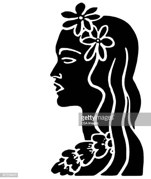 island woman - 花輪点のイラスト素材/クリップアート素材/マンガ素材/アイコン素材