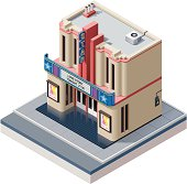 Isometric cinema building