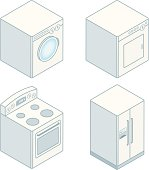 Isometric Home Appliances