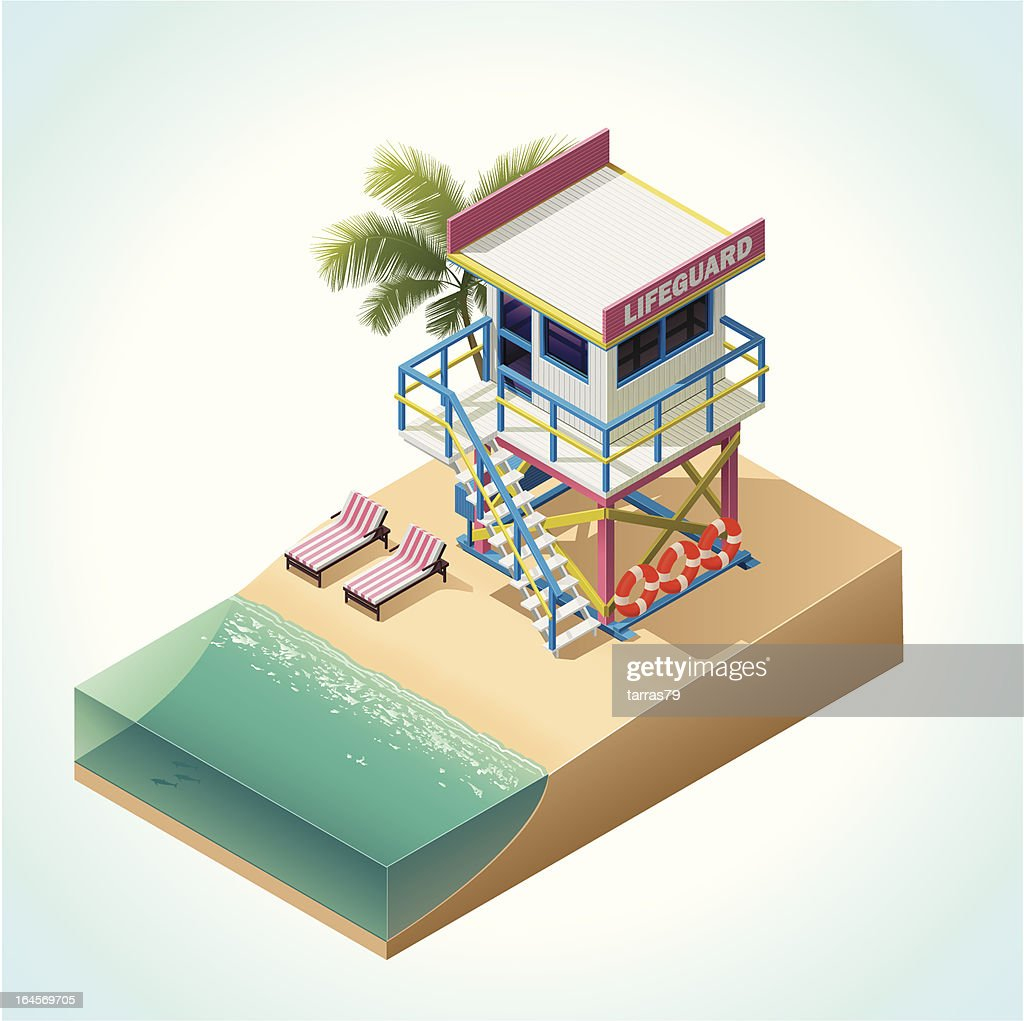 Isometric lifeguard tower