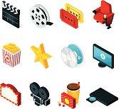 Isometric Movie Icons