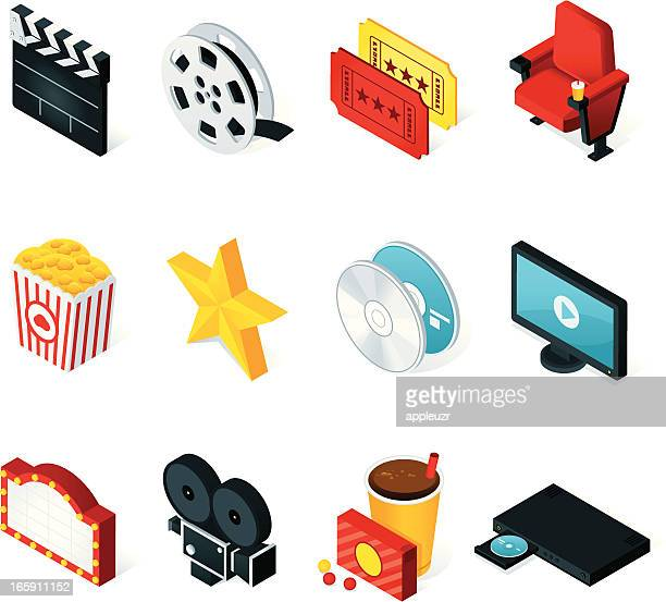 Isometric Movie Icons