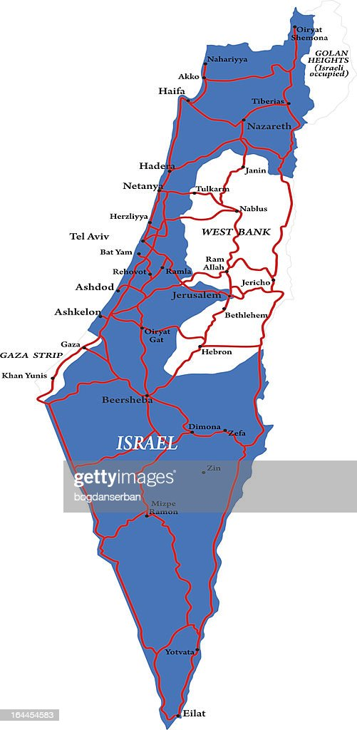 Israel map isolated