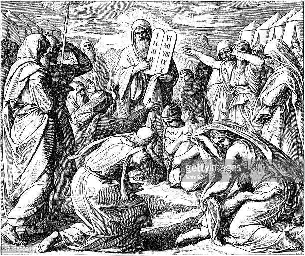 10 commandments いた - 宗教的人物 モーゼ点のイラスト素材/クリップアート素材/マンガ素材/アイコン素材