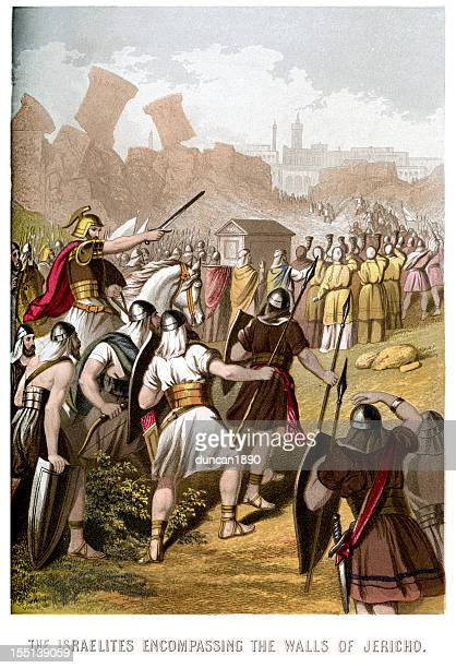 Israelites attacking the Walls of Jericho