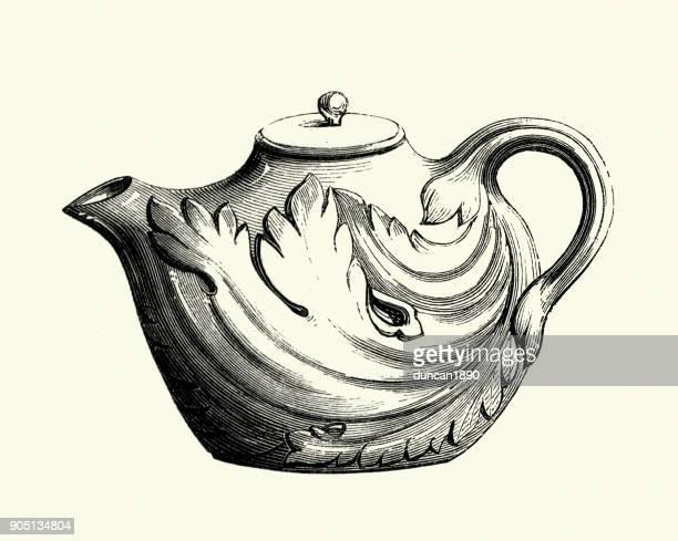 Italian earthenware teapot, 18th Century