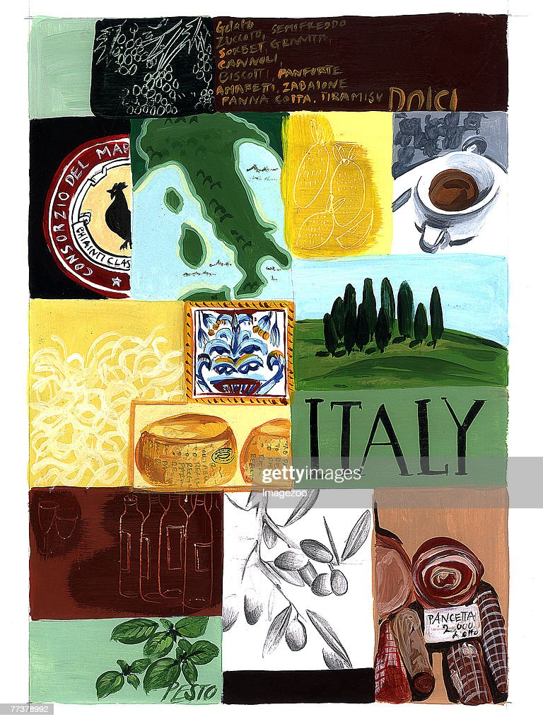 italy vignettes : Illustration