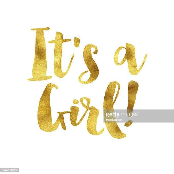ilustrações de stock, clip art, desenhos animados e ícones de uma sua mensagem uma rapariga de folha de ouro - chadebebe