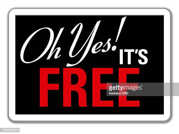 It's Free--Store Sign