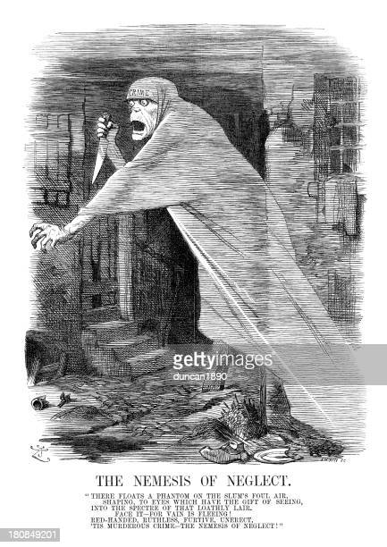 jack the ripper - nemesis of neglect - jack the ripper stock illustrations