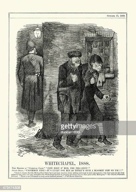 jack the ripper - whitechapel, 1888 - jack the ripper stock illustrations