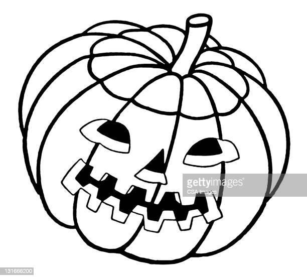 jack-o-lantern - spooky stock illustrations