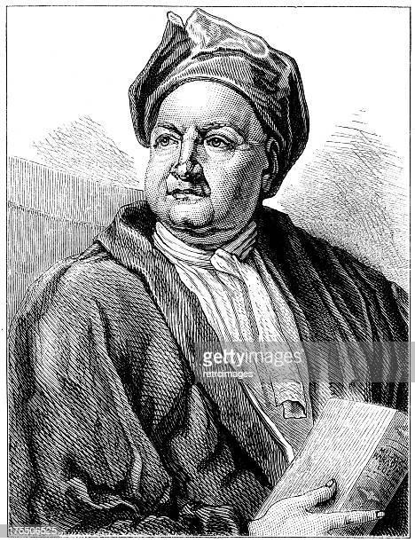 jacob tonson, 18th-century bookseller and publisher (illustration) - john milton stock illustrations, clip art, cartoons, & icons