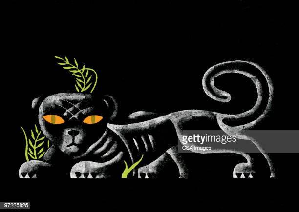 ilustraciones, imágenes clip art, dibujos animados e iconos de stock de jaguar - jaguar