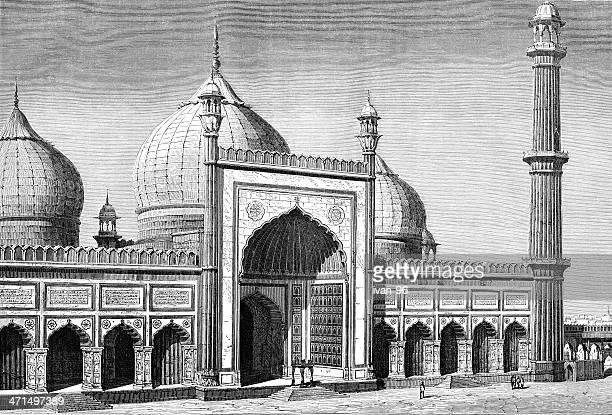 jama masjid - arabic script stock illustrations, clip art, cartoons, & icons