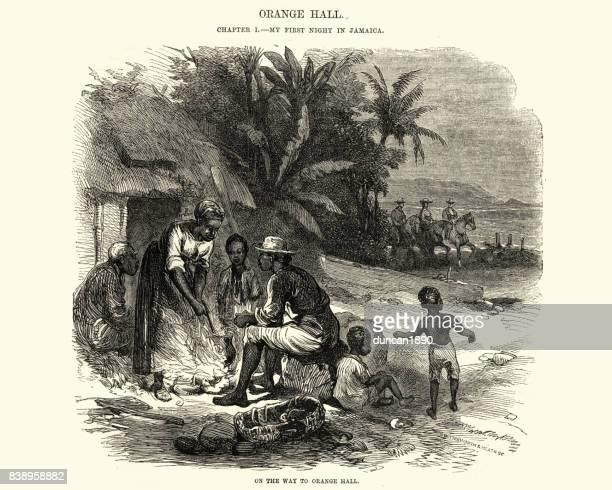 Jamaicanska familj genom brand, 1800-talet