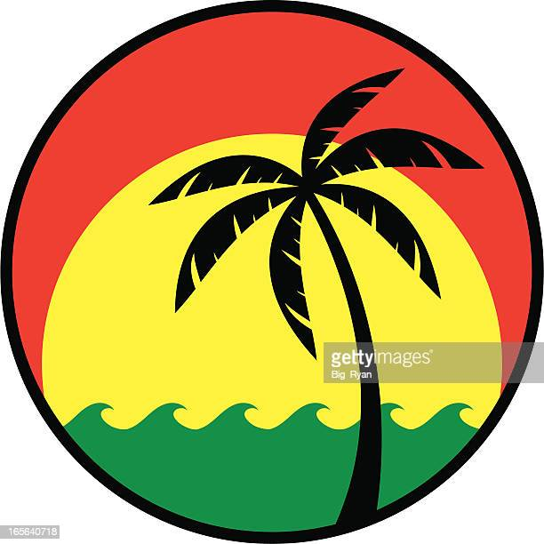jamaican icon - jamaica stock illustrations