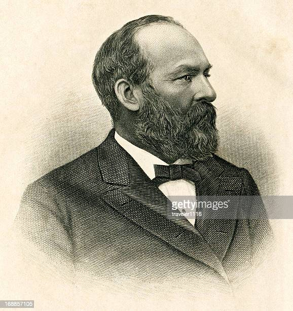 james abram garfield - former stock illustrations, clip art, cartoons, & icons