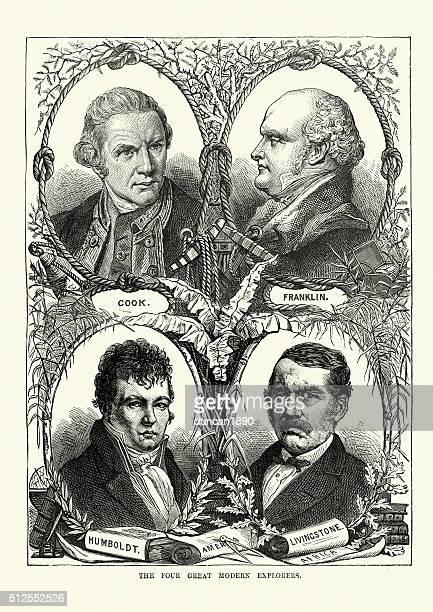 James cocinar, John Franklin, Alexander Para Humboldt, David Livings
