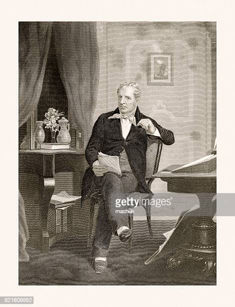 ジェームズ ・ フェニモア Cooper 、19 世紀のポートレート
