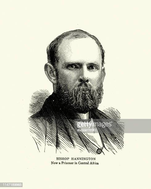 james hannington, english anglican missionary, saint and martyr - martyr stock illustrations