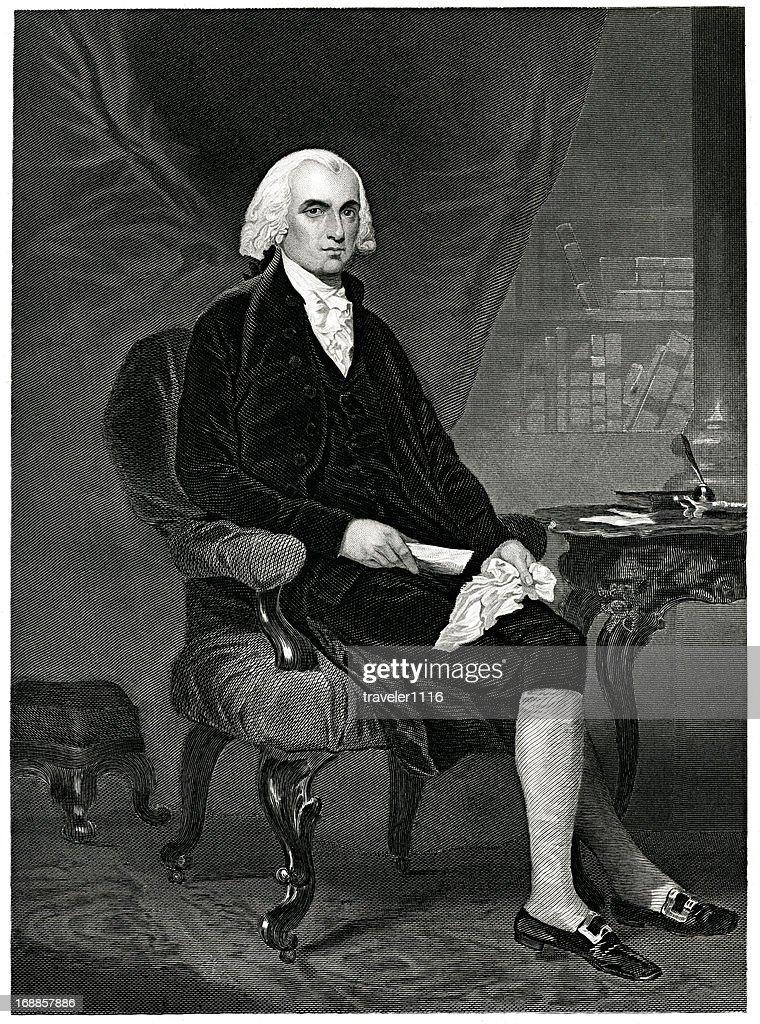 James Madison : stock illustration